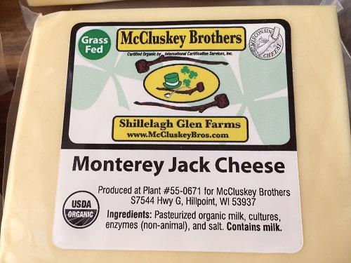 Monterey Jack, grassfed